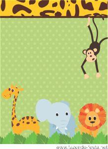 kit festa safari tag lembrancinha