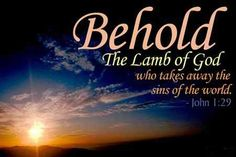 """Behold the Lamb of God who takes away the sin of the world!"""" (John 1 ..."""
