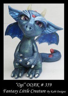 Art Doll Polymer Clay Fantasy Miniature Dragon Fairy DollHouse