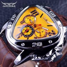 Unique Wrist Watch Transparent Jaguar Men Fashion for Different look and Feel Old Watches, Swiss Army Watches, Watches For Men, Watch Cases For Men, Men Watch, Best Watch Brands, Mechanical Watch, Sport Watches