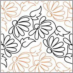 Purple Meadow pantograph pattern by Patricia Ritter of Urban Elementz and Karen Thompson Quilting Stitch Patterns, Machine Quilting Patterns, Quilt Stitching, Quilt Patterns, Quilting Stencils, Quilting Templates, Longarm Quilting, Free Motion Quilting, Patch Quilt