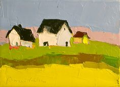 Simple Living II - Original Oil Painting on Canvas - 6x8, Barn, Farm Landscape