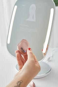 HiMirror Smart Beauty Mirror | Urban Outfitters Mirrors Urban Outfitters, Virtual Makeup, Mini Washing Machine, Makeup Vanity Mirror, Hair Removal Systems, Beauty Sponge, Mini Fridge, Brush Cleaner, Try On