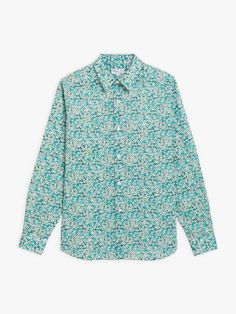 chemise Andy turquoise en tissu Liberty | agnès b. Turquoise, Shirt Dress, Mens Tops, Shirts, Collection, Dresses, Fashion, Dress Shirt, Fabric