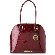 V 1969 Italia Wine Scarlett Dome Bag ($50) ❤ liked on Polyvore featuring bags, handbags, red, wine purse, hardware bag, dome bag, red purse and dome shaped handbags