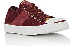 6c7795bd06133e Converse burgundy canvas Jack Purcell Johnny Ox low-top sneakers detailed  with tonal and tan