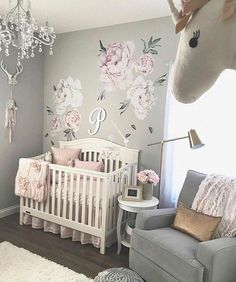 7 Hottest Baby Nursery Decor Trends for Baby Nursery Decor Girls Wall Decal, Pink. 7 hottest baby nursery decor trends and ideas for Ideas for boys, girls and gender neutral baby bedrooms. Baby Girl Nursery Decor, Baby Bedroom, Nursery Design, Baby Room Decor, Nursery Room, Girls Bedroom, Baby Girl Bedroom Ideas, Baby Girl Nurseries, Baby Room Ideas For Girls