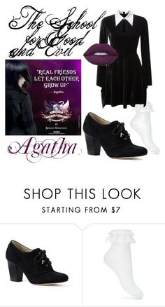 """""""The School for Good and Evil: Agatha"""" by babygirlslash ❤ liked on Polyvore featuring Lands' End and Miss Selfridge"""