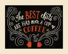 Chat over Coffee - Giclee Print