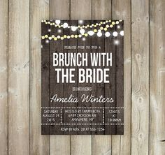 Adult joint birthday invitation string light invitationchalkboard brunch with the bride invitation bridal by favoritethingsdesign stopboris Choice Image