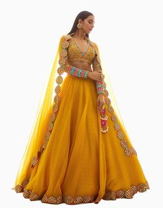 designer outfits Buy Embellished Organza Lehenga Set by Vvani by Vani Vats at Aza Fashions Anarkali, Lehenga Choli, Jacket Lehenga, Lehenga Style, Indian Bridal Outfits, Indian Designer Outfits, Designer Dresses, Salwar Designs, Best Lehenga Designs