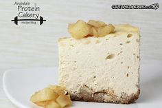 Prot: 18 g, Carbs: 8 g, Fat: 19 g, Cal: 275 -- An indulgent protein treat! Cinnamon Apple Protein Cheesecake by Andréa's Protein Cakery. Gluten-free and delicious! Stevia Desserts, Stevia Recipes, Protein Desserts, Low Carb Desserts, Protein Foods, Fruit Recipes, Snack Recipes, Protein Power, Ideal Protein