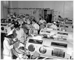 Next time someone talks about the danger of vaccinations, show them this picture.  Iron lung ward, children with polio in the mid 1950s.