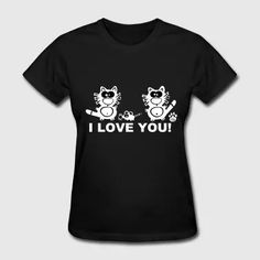 I love you Gift Couple Couples Cats Mouse Rat Tee - Women's T-Shirt