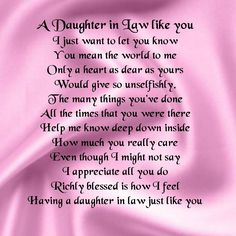 To My Beautiful Daughter In Law Thank You For Loving Son And