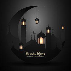 Ramadan kareem with lantern Premium Vect. Eid Mubarak Images, Eid Mubarak Card, Happy Eid Mubarak, Wallpaper Ramadhan, Ramadan Kareem Pictures, Eid Al Adha Greetings, Eid Mubarak Background, Mosque Silhouette, Muslim Holidays