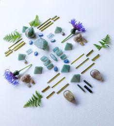 Golden Horse, Honey Calcite, Sacred Plant, Desert Rose, Herkimer Diamond, Crystal Grid, Horse Hair, Bobby Pins, Opal