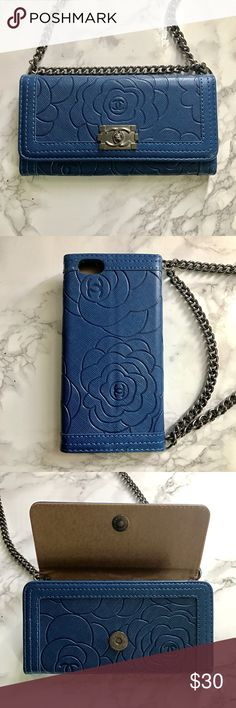 Wallet Design iPhone 6 / 6s Faux Leather Case Wallet Style, fits the iPhone 6 and 6s, Faux Leather Case, Chain can be removed if desired, 3 card slots, magnetic closure. New in box. Accessories Phone Cases