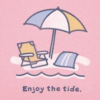 Enjoy The Tide. #Life is Good  Pink is Always Perfect! The Beach is even Better!