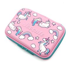 Unicorn Gifts for Girls Hardtop Pencil Case - Kids Large Colored Pen Holder Box with Compartments - Girls Cosmetic Pouch Bag Stationery Organizer Unicorn Pencil Case, Cute Pencil Case, School Pencil Case, Pencil Cases, Unicorn Print, Cute Unicorn, Stationery Items, Cute Stationery, Makeup Products