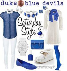 """Feb 9th Duke Blue Devils"" by onehaolegirl on Polyvore"