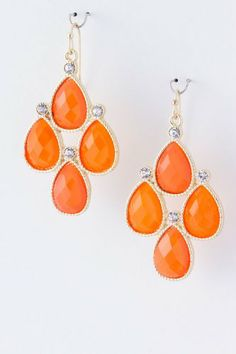 Add some color try orange earrings Orange You Glad, Orange Is The New, Orange Earrings, Drop Earrings, My Favorite Color, My Favorite Things, Orange Wedding, Orange Crush, Happy Colors