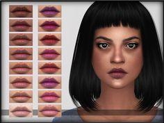 Lips Set 16 by ShojoAngel at TSR via Sims 4 Updates