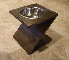 2 Quart 12 Inch Single  Ergonomically Designed Pet by WoodinYou, $35.00 Made in the USA