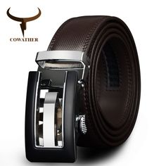Genuine Leather Automatic Buckle belt For Men. Available Colors - Brown and Black //Price: $18.99 & FREE Shipping // #Fashion