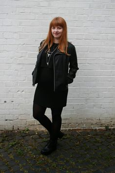 All Black Everything Shades Of Red, 50 Shades, All Black Everything, Red Hair, Bomber Jacket, My Style, Blog, Jackets, Women
