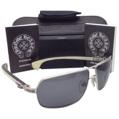 52ca07ac495f Pre-owned Polarized Chrome Hearts Sunglasses Moorehead Ss-wteb Silver...  ( 1