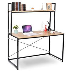 HARTLEYS BLACK GLASS COMPUTER DESK /& BASE UNIT SHELF OFFICE TABLE PC WORKSTATION