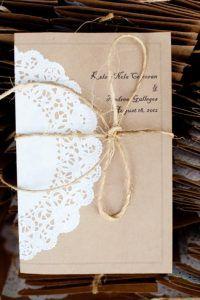 Envelope de renda para convite de casamento 1