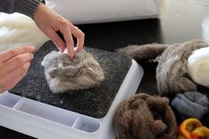 How to make felt stones for stone rug
