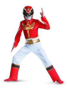 Amazon.com: Power Rangers Red Ranger Megaforce Classic Child Costume SMALL: Toys & Games