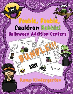 There is no toil nor trouble learning Doubles Addition Facts with the activities in this $$$ Saving Bundle! $ #Halloween #moneysavingbundle #doublesadditionfacts #kampkindergarten #addition #HalloweenMath https://www.teacherspayteachers.com/Product/Double-Double-Cauldron-Bubble-Halloween-Addition-Centers-Bundle-2147722