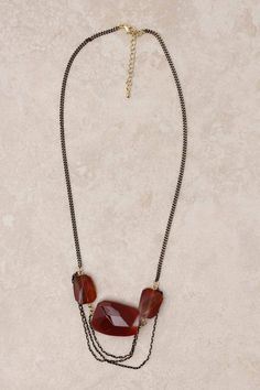 Carnelian Sabine Necklace $48 @ Emma Stine