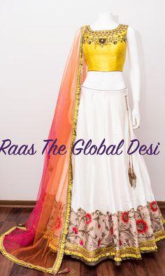 CC1658 ALPA designer lehenga Mehendi Sangit Reception Indian wedding Ethnic Raas the global desi