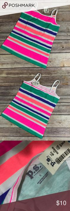 NEW NWT P.S. Aeropostale Green Pink White Striped NEW NWT P.S. Aeropostale Green Pink White Striped Tank 5  Super cute adjustable strap tank from P.S. by Aeropostale.  New with tags.  Bright colors.  #colorful #adjustablestraps #tank #tanksalot #stripes #striped #stripe #green #purple #neon #pink #orange #white #new #nwt #aeropostale #ps Aeropostale Shirts & Tops Tank Tops