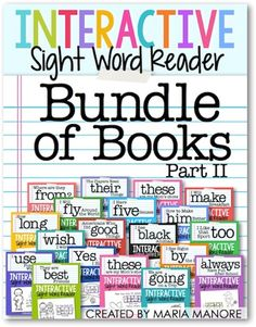 Interactive Sight Word Readers Bundle of Books, Part 2… buy it now for the best value! 33 books and counting!