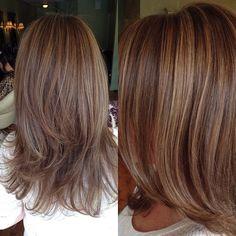 honey blonde highlights and light brown lowlights
