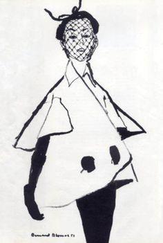 Jacques Fath coat, Bernard Blossac, 1951
