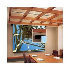 """112034 Envoy Motorized Front Projection Screen - 96 x 96"""" by Draper. $1410.99. 112034 Features: -The motor is mounted inside the roller on special vibration insulators..-With control options, this projection screen can be operated from any remote location..-NTSC, HDTV and WideScreen format projection screens have black borders on all four sides..-Warranted for one year against defects in materials and workmanship. Options: -Depending on surface, available in sizes throug..."""
