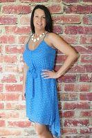 Blue Tank Hi/Lo Dress