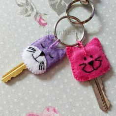 Cat key toppers