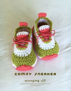 Comfy Baby Sneakers Crochet Pattern by Crochet Pattern Kittying from Kittying.com / Mulu.us , adidas, Baby Bootie, baby booties,Baby Booties Pattern, Baby Crochet Boots, Baby Crochet Shoe,Baby Pattern, babybooties, babyshoes, babysneakers, booties pattern, Crochet Baby Booties, Crochet Baby Patterns, Crochet Booties Pattern, Crochet Pattern, crochetpattern, crochetpatterns,crochetsneakers, nike, Safari Bootie PATTERNS, Size 1 to 3