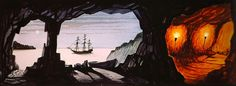 Pirates of the Caribbean concept art by Marc Davis