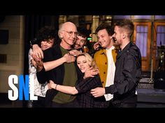 February 6, 2016 SNL Host Larry David Gets A Hug From The 1975 & Kate McKinnon - YouTube