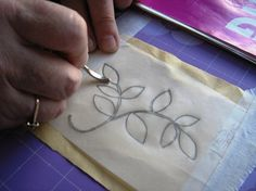 How to transfer an embroidery design | Needlework News | CraftGossip.com