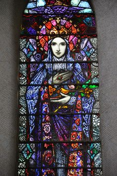 glitzandgrandeur:  Stained Glass - Church Of Christ The King, Knockmore, County Mayo, Ireland Photographed by Fergal of Claddagh, Flickr http://www.flickr.com/photos/feargal/6870272399 KillalaDiocese.org has the church listed with the year 1845.  Don't know if maybe the windows were renovated, or of these are indeed the originals.  They look bright and modern.  If they are originals, - all the more impressive.    By my man Harry Clarke.